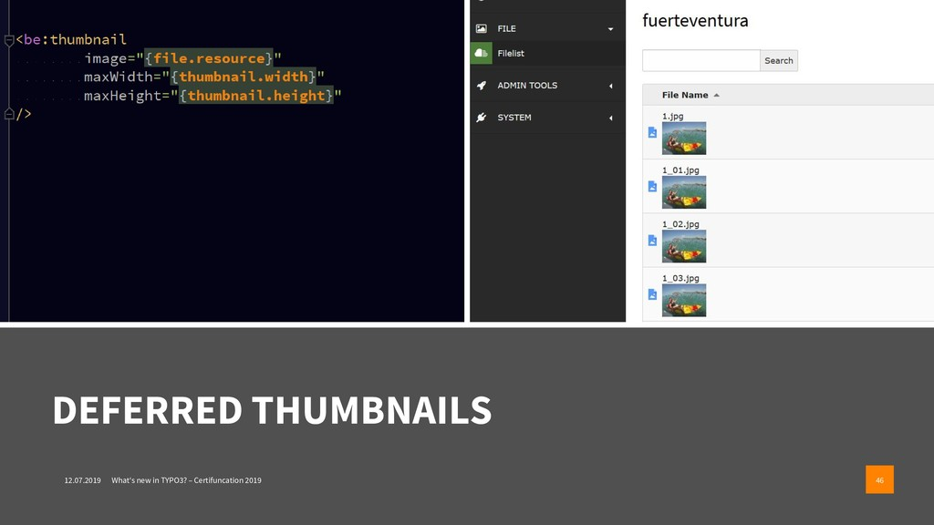 DEFERRED THUMBNAILS 12.07.2019 What's new in TY...