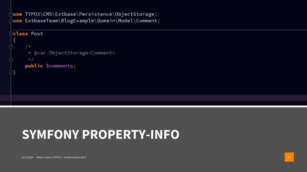 SYMFONY PROPERTY-INFO 12.07.2019 What's new in ...