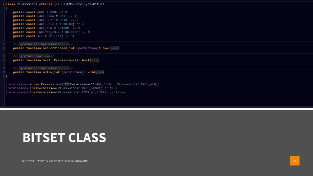 BITSET CLASS 12.07.2019 What's new in TYPO3? – ...