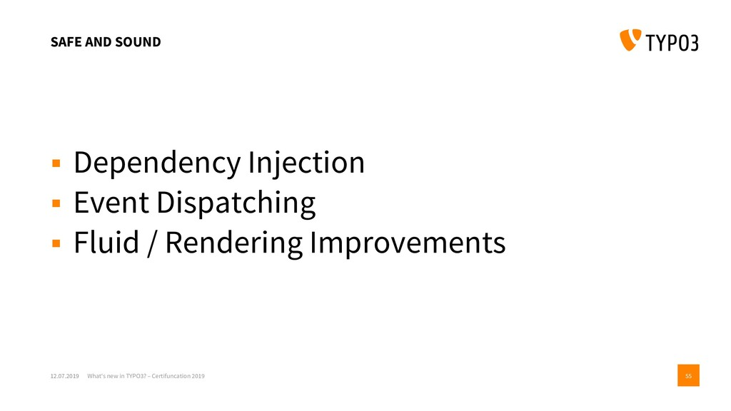 SAFE AND SOUND ▪ Dependency Injection ▪ Event D...