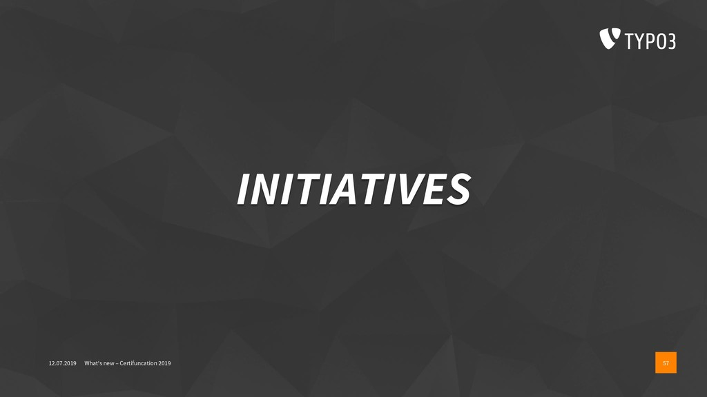 INITIATIVES 12.07.2019 What's new – Certifuncat...