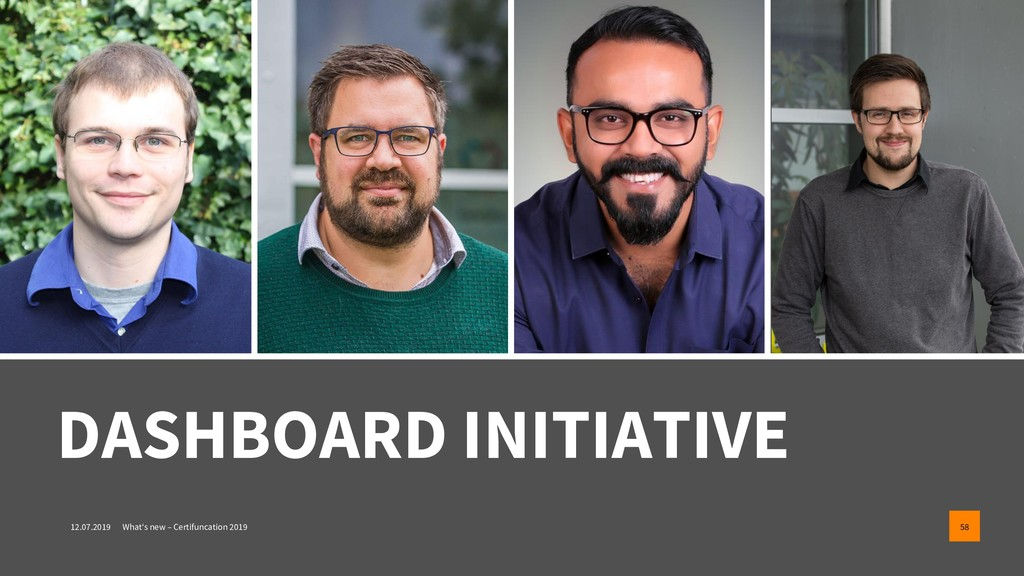 DASHBOARD INITIATIVE 12.07.2019 What's new – Ce...
