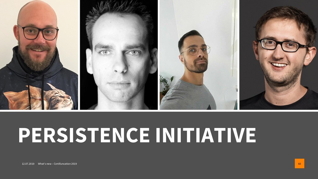 PERSISTENCE INITIATIVE 12.07.2019 What's new – ...