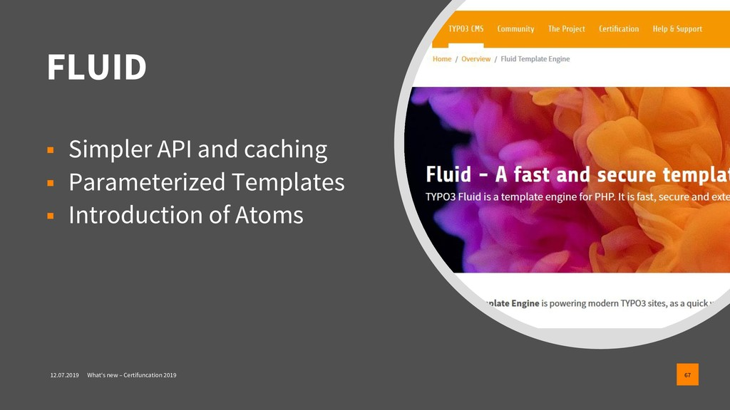 FLUID ▪ Simpler API and caching ▪ Parameterized...