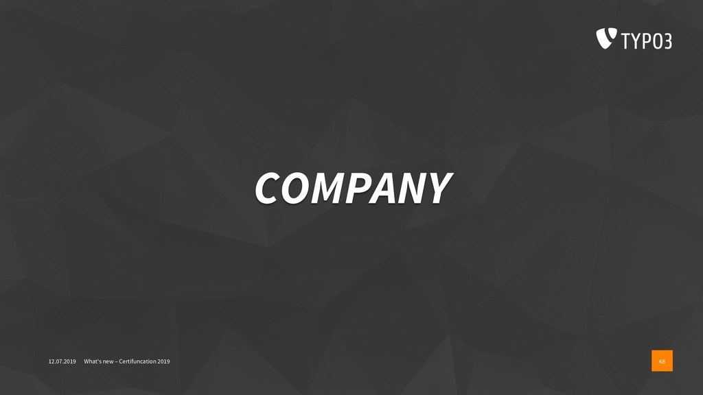 COMPANY 12.07.2019 What's new – Certifuncation ...