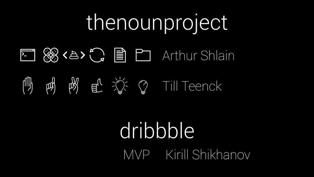 thenounproject dribbble MVP Kirill Shikhanov Ar...
