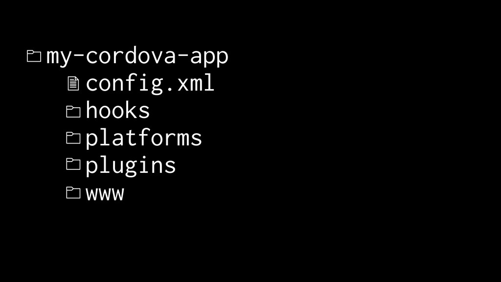 my-cordova-app config.xml hooks platforms plugi...
