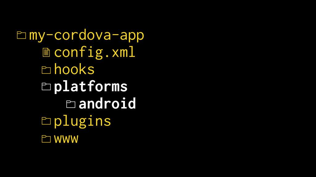 my-cordova-app config.xml hooks platforms andro...