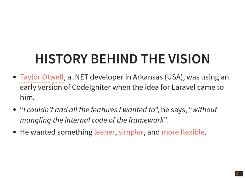2 . 1 HISTORY BEHIND THE VISION , a .NET develo...
