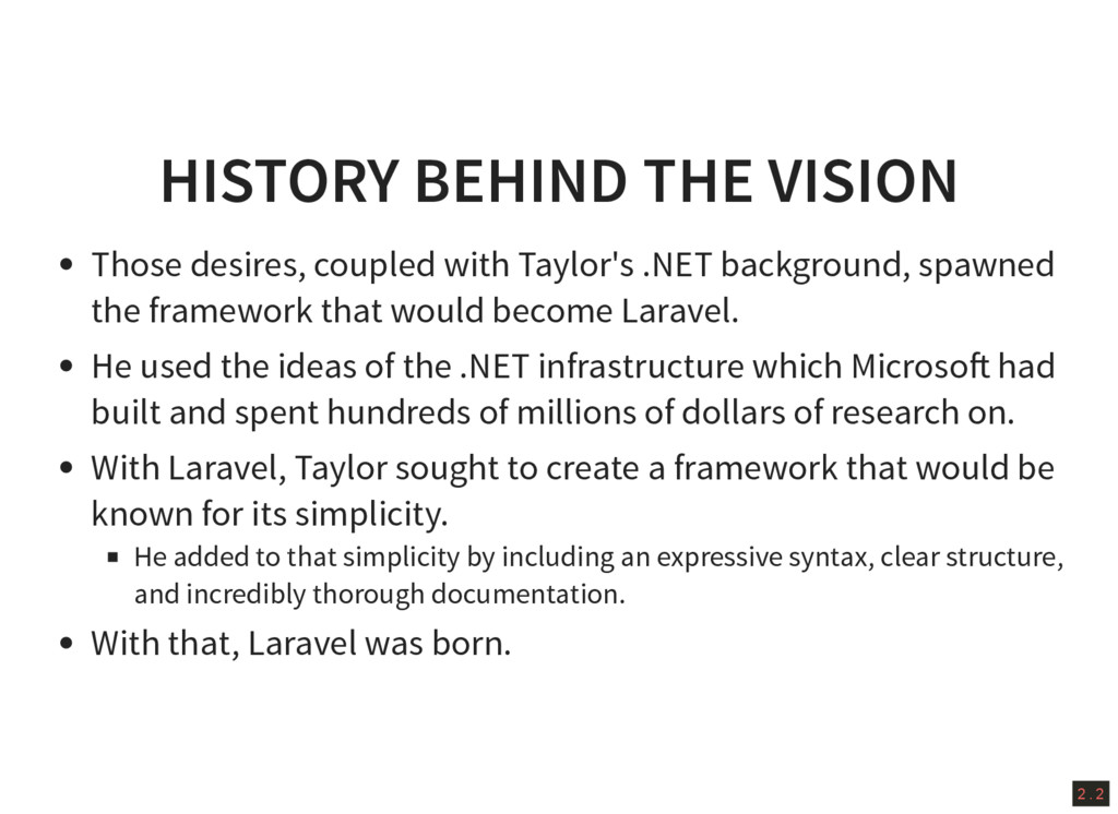 2 . 2 HISTORY BEHIND THE VISION Those desires, ...