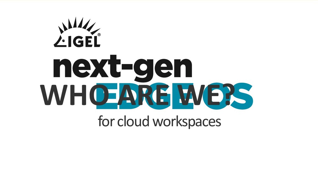 for cloud workspaces WHO ARE WE?