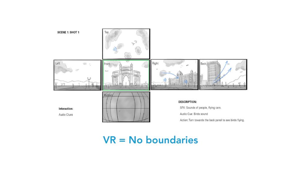 VR = No boundaries
