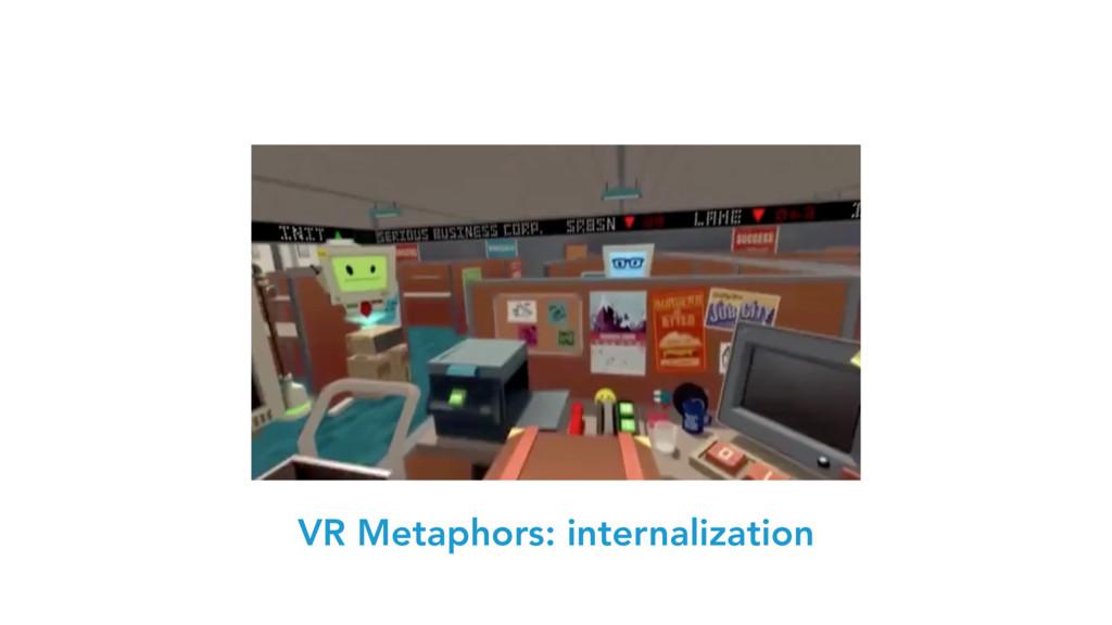 VR Metaphors: internalization
