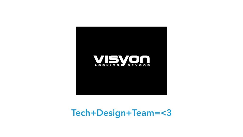 Tech+Design+Team=<3