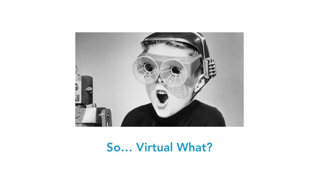 So… Virtual What?
