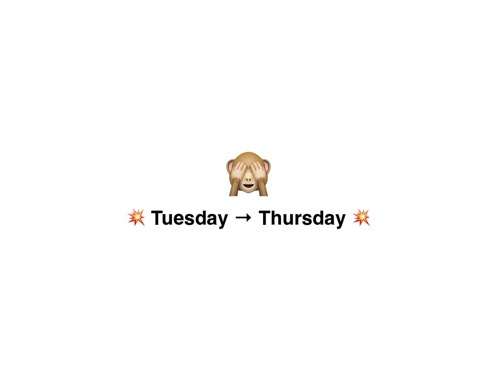 B Q Tuesday → Thursday Q
