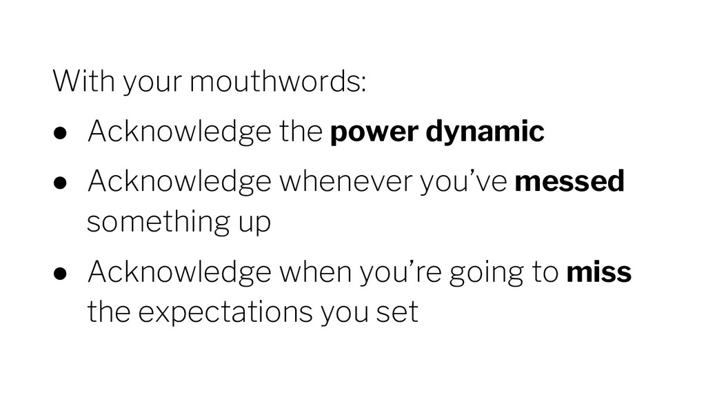 With your mouthwords: ● Acknowledge the power d...