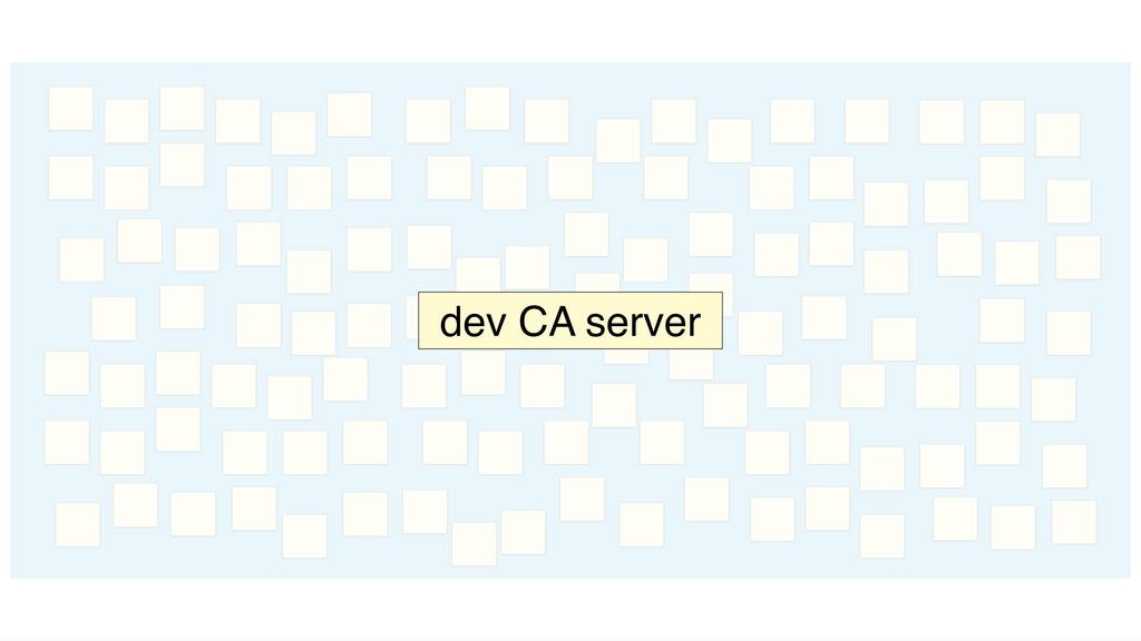 dev CA server