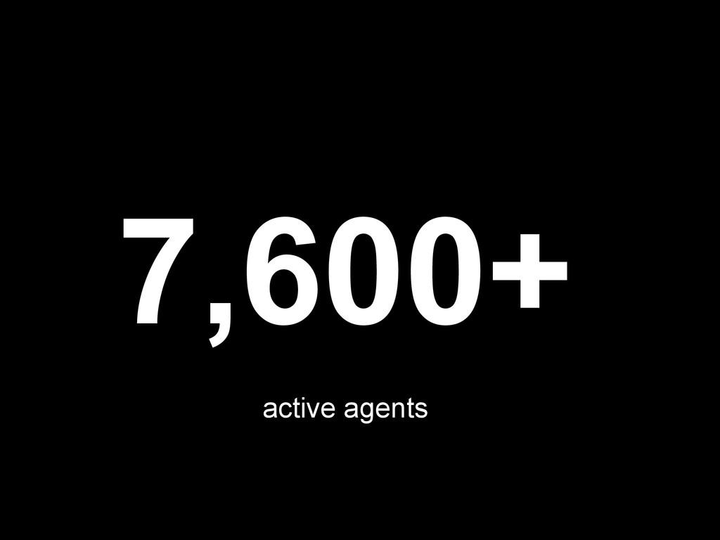 7,600+ active agents