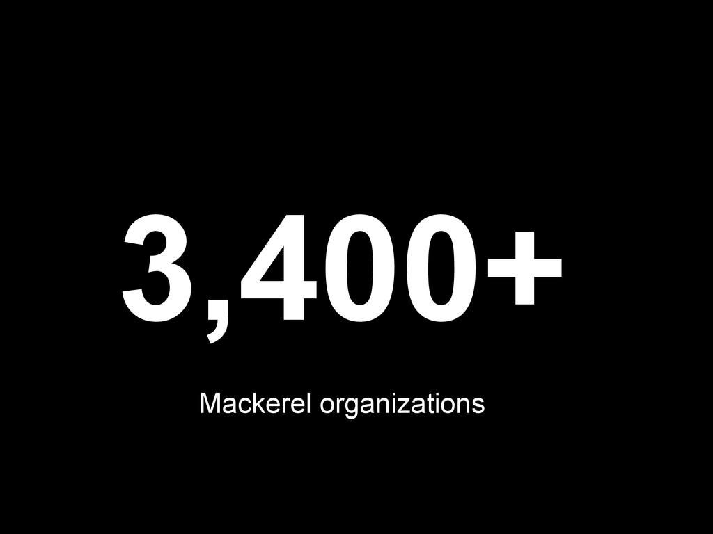 3,400+ Mackerel organizations