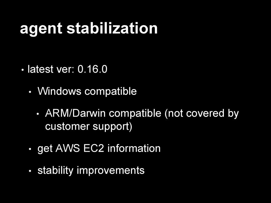 agent stabilization • latest ver: 0.16.0 • Wind...