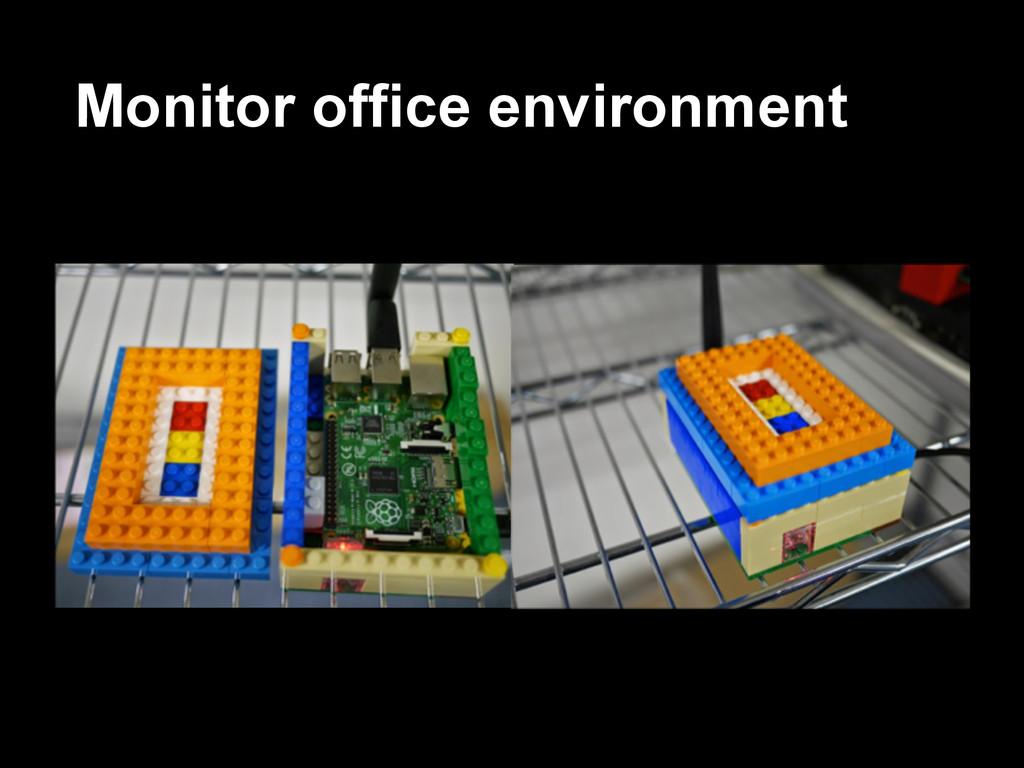 Monitor office environment