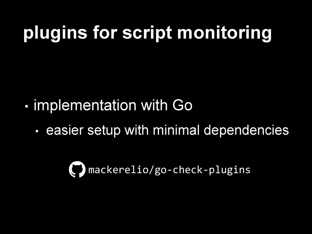 plugins for script monitoring • implementation ...