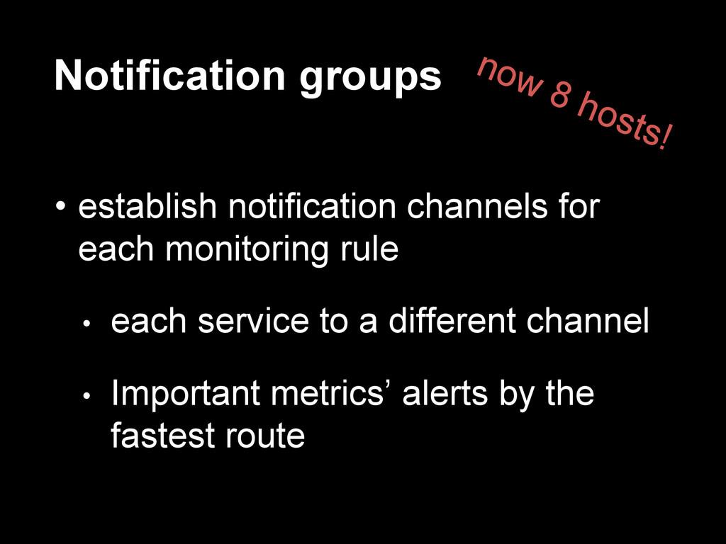Notification groups • establish notification ch...