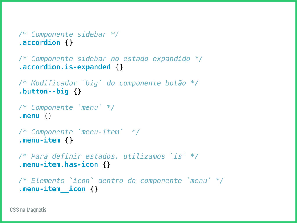 /* Componente sidebar */ .accordion {} /* Compo...