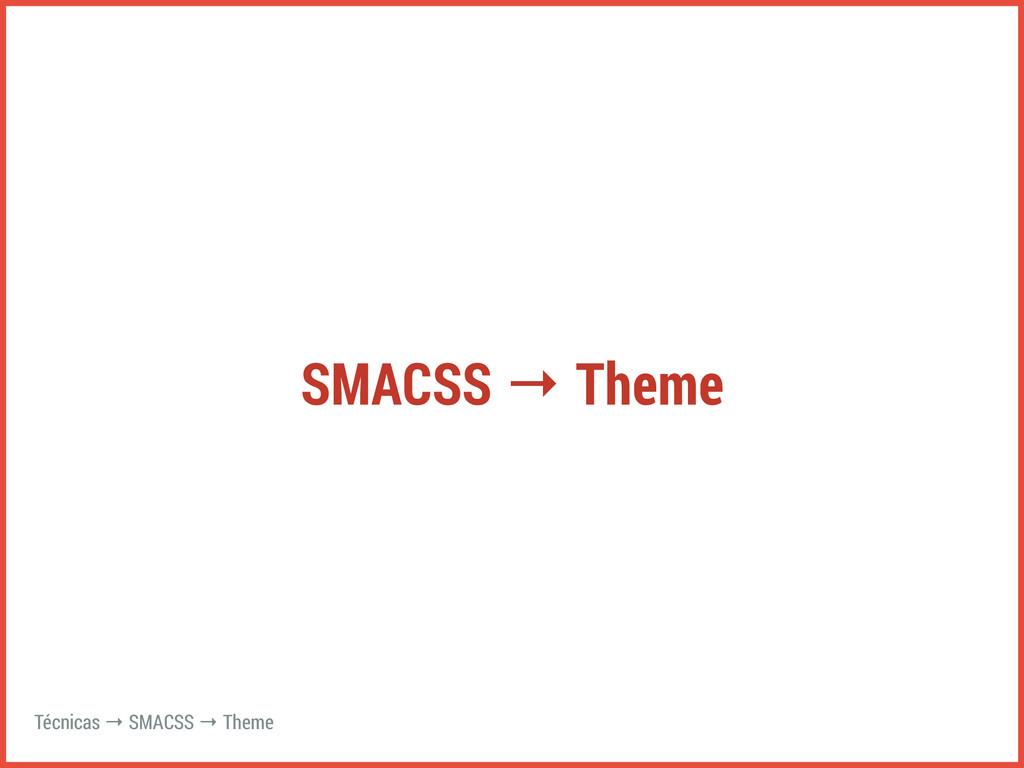 SMACSS → Theme Técnicas → SMACSS → Theme