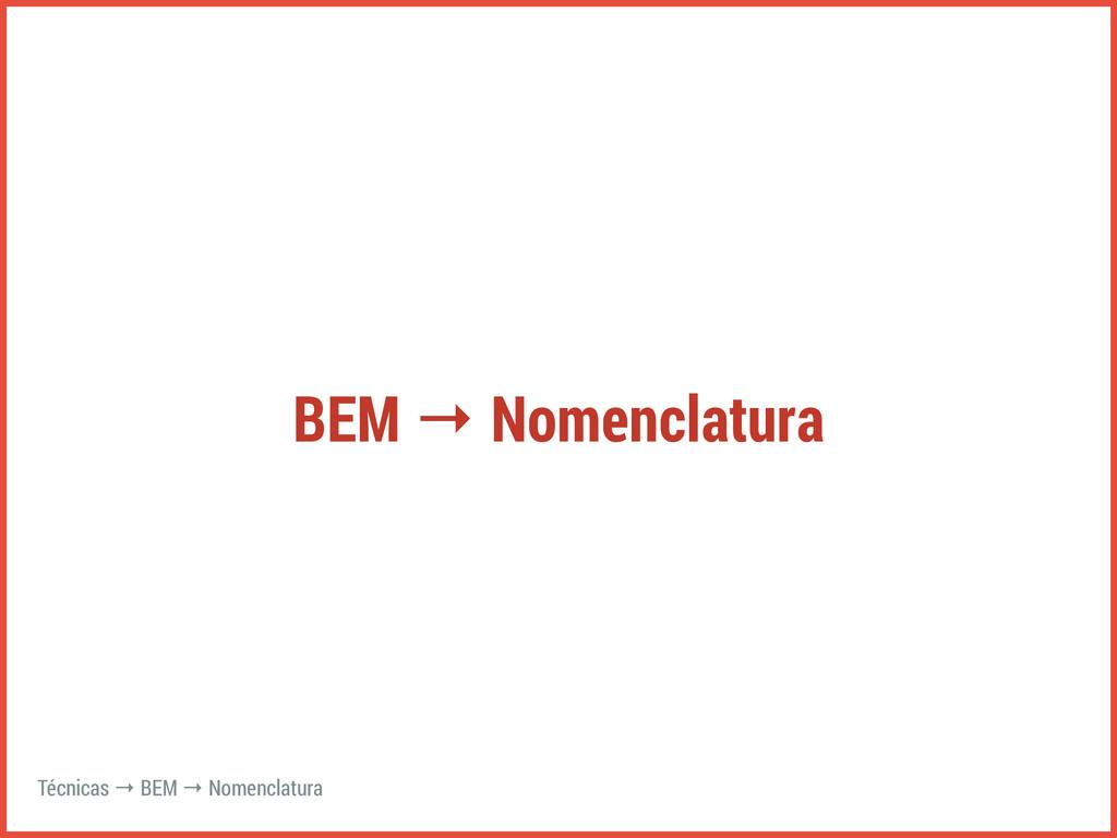 BEM → Nomenclatura Técnicas → BEM → Nomenclatura