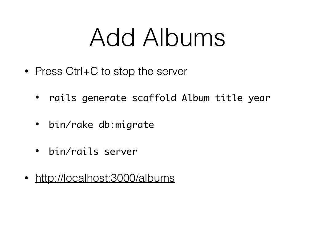 Add Albums • Press Ctrl+C to stop the server • ...