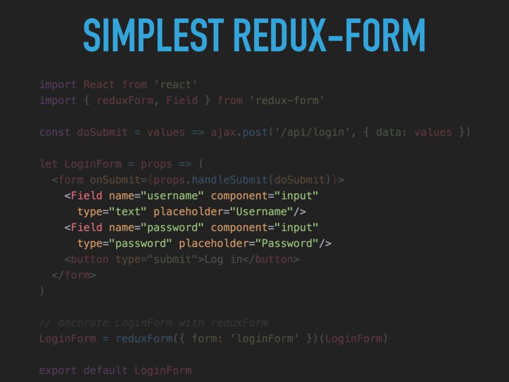 SIMPLEST REDUX-FORM