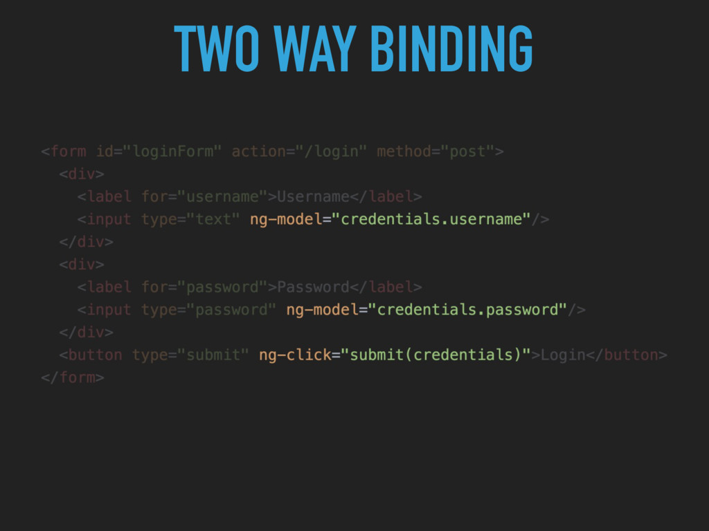 TWO WAY BINDING