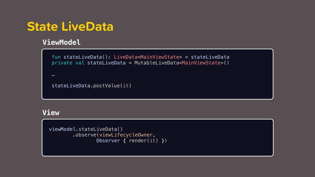 State LiveData fun stateLiveData(): LiveData<Ma...