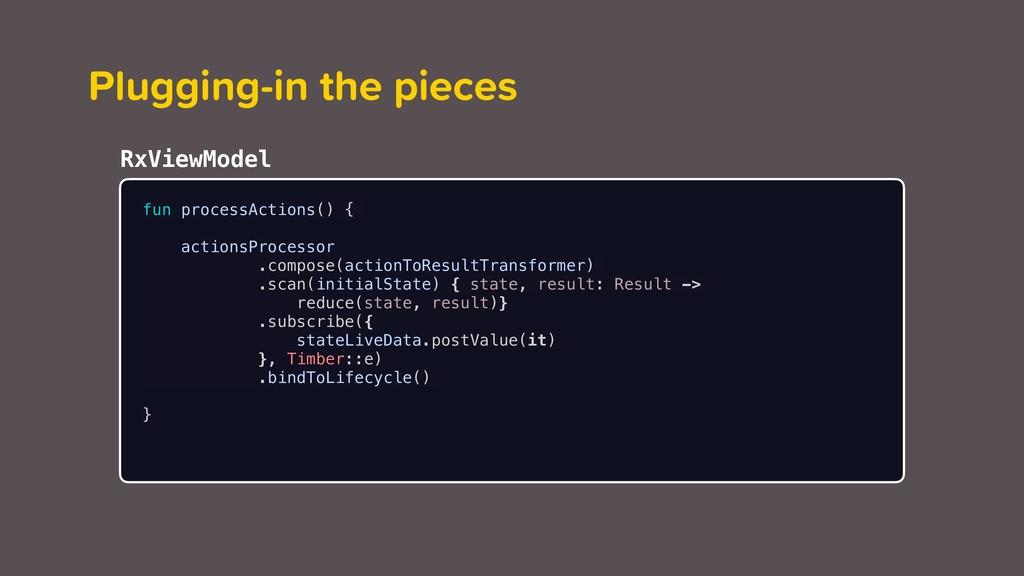 fun processActions() { actionsProcessor .compos...