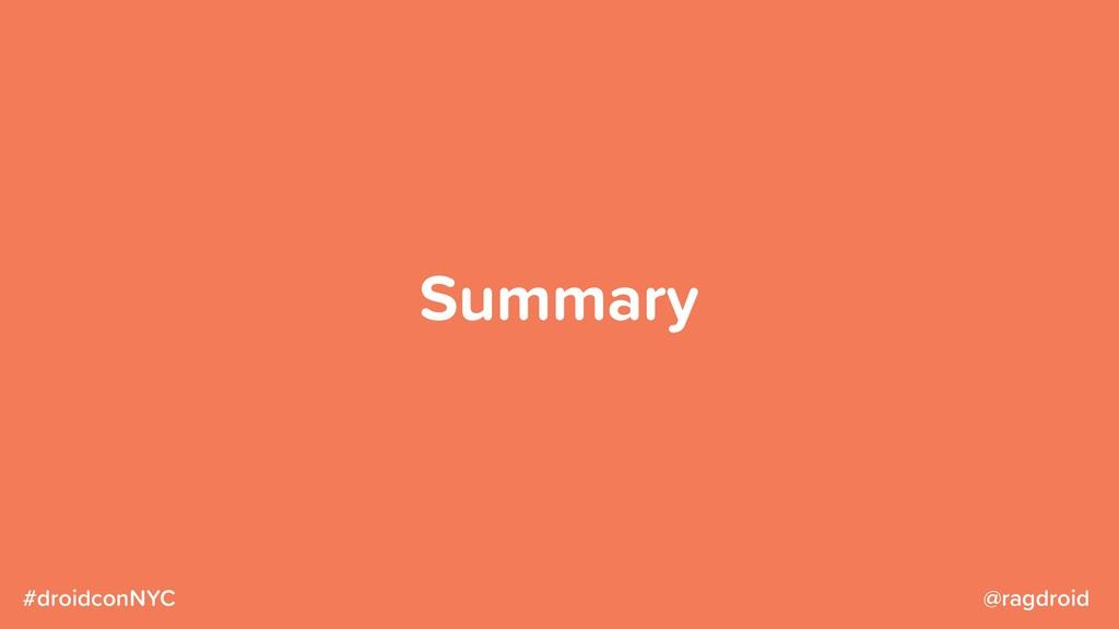 @ragdroid #droidconNYC Summary