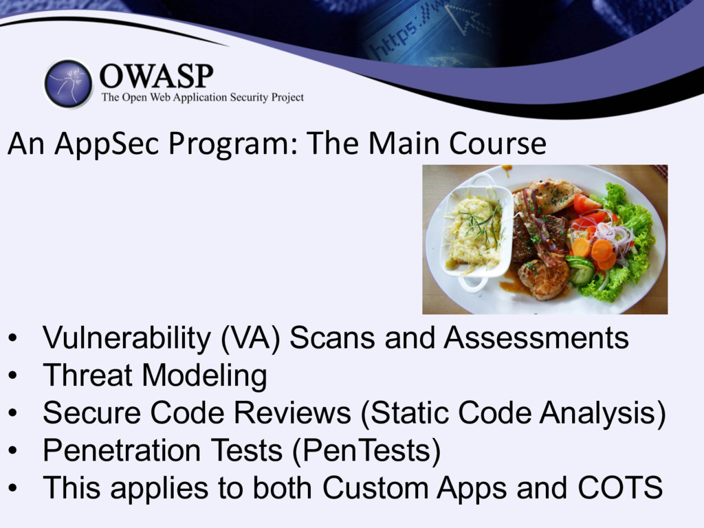 An AppSec Program: The Main Course • Vulnerabil...