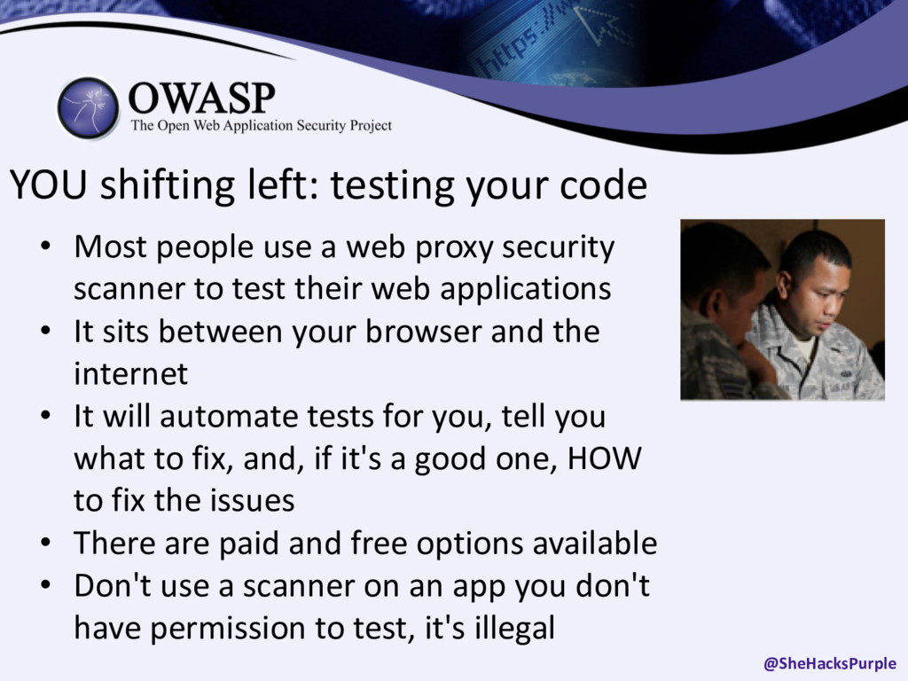YOU shifting left: testing your code • Most peo...