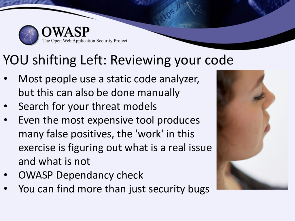 YOU shifting Left: Reviewing your code • Most p...