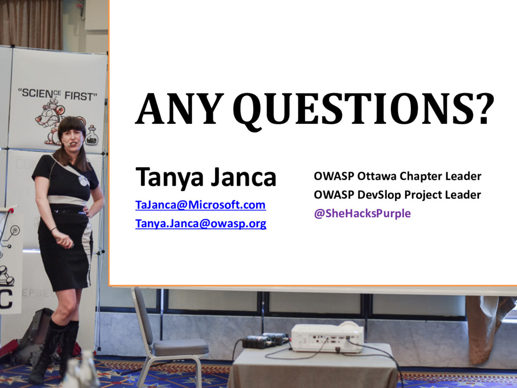 ANY QUESTIONS? OWASP Ottawa Chapter Leader OWAS...