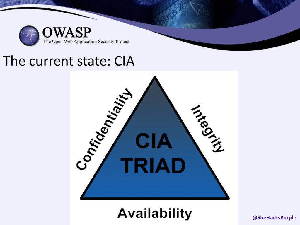 The current state: CIA @SheHacksPurple