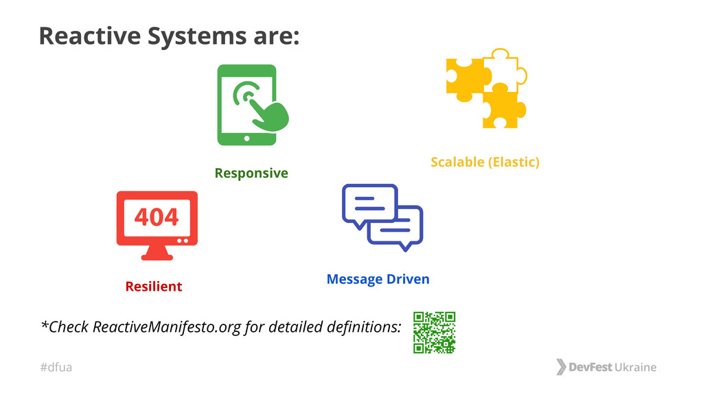 #dfua Reactive Systems are: *Check ReactiveMani...