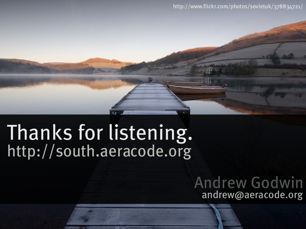 Thanks�for�listening. http://www.flickr.com/pho...