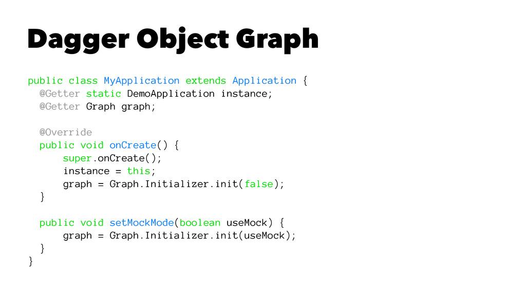 Dagger Object Graph public class MyApplication ...