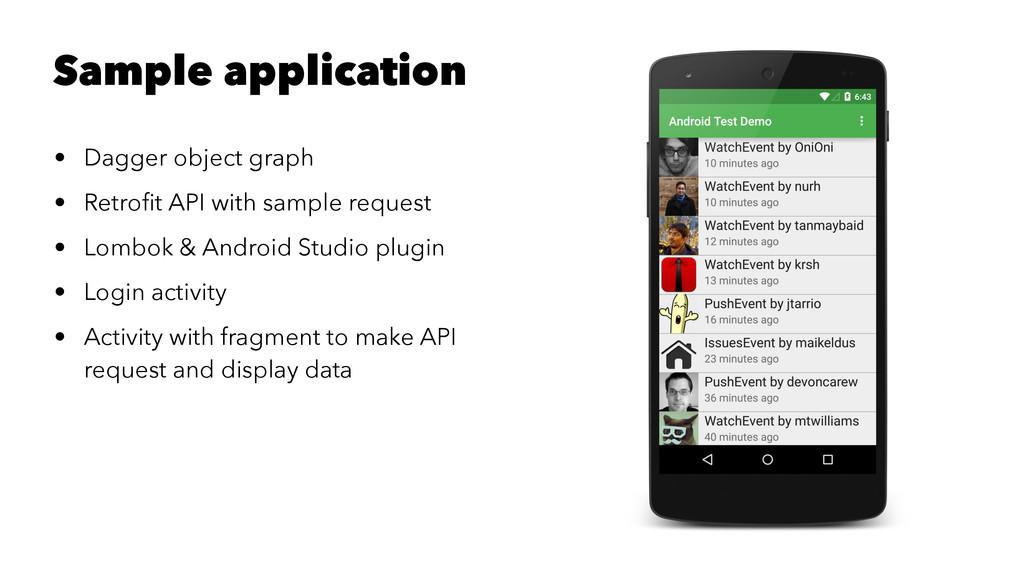 Sample application • Dagger object graph • Retr...
