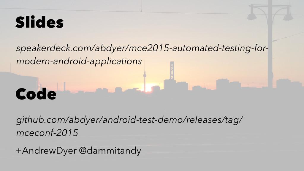 Slides speakerdeck.com/abdyer/mce2015-automated...