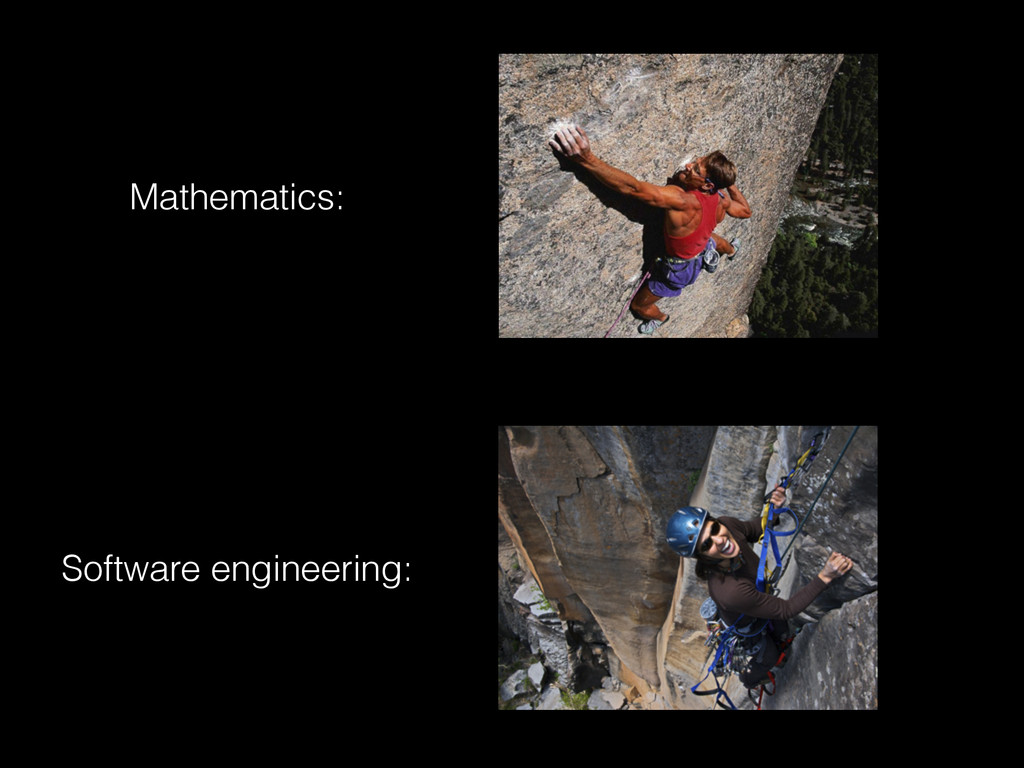 Mathematics: Software engineering: