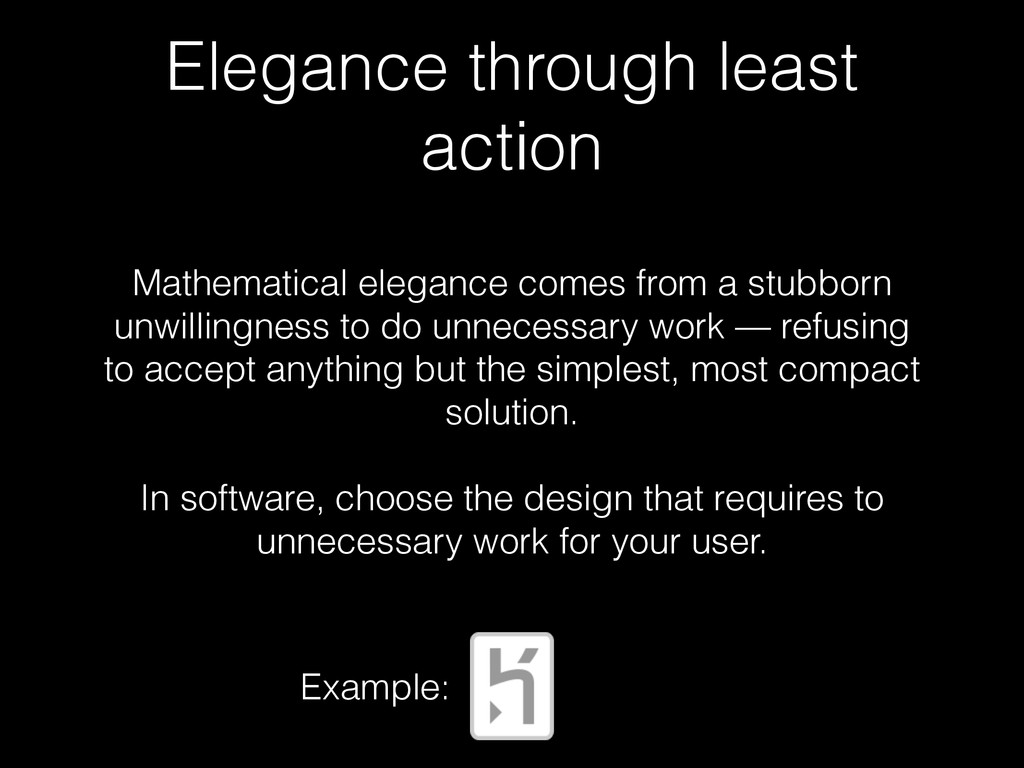 Elegance through least action Mathematical eleg...