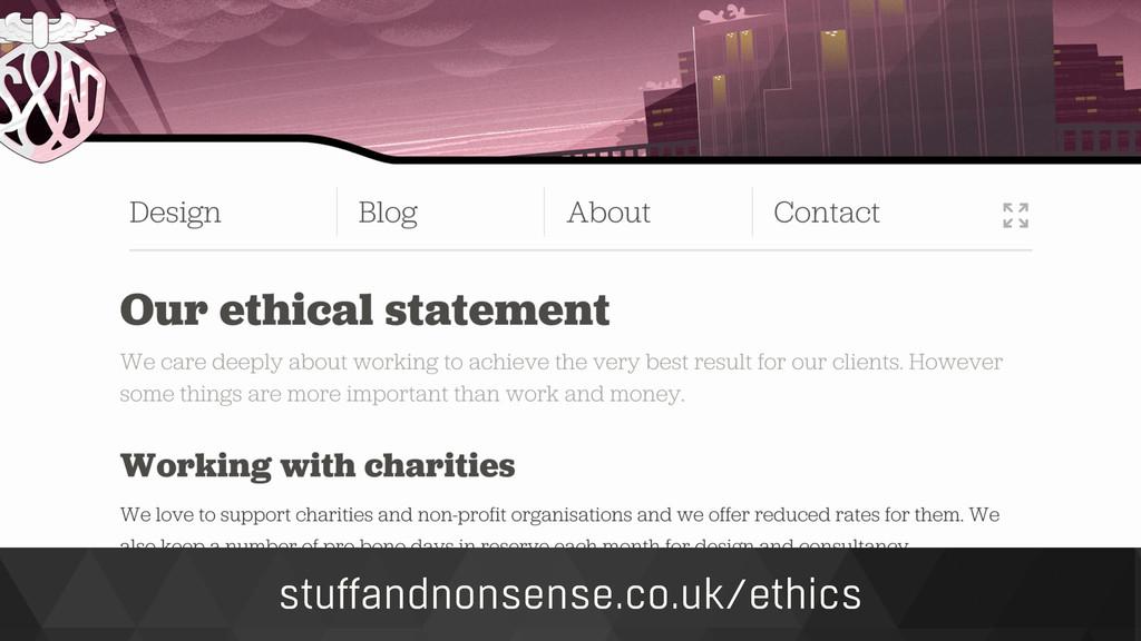 stuffandnonsense.co.uk/ethics